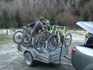 downhill bike transport trailer